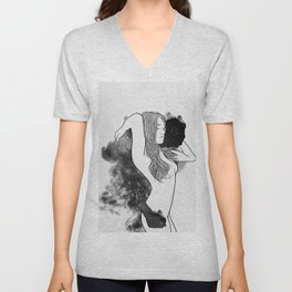 The courage of deeply love. Unisex V-Neck