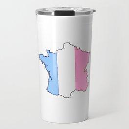 Parody of the french flag 4-France,Paris, pink, Marseille, lyon, Bordeaux,love, girly,fun,idyll,Nice Travel Mug