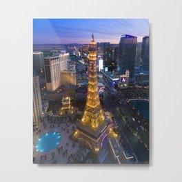 Aerial view of the Eiffel tower in Las Vegas Metal Print