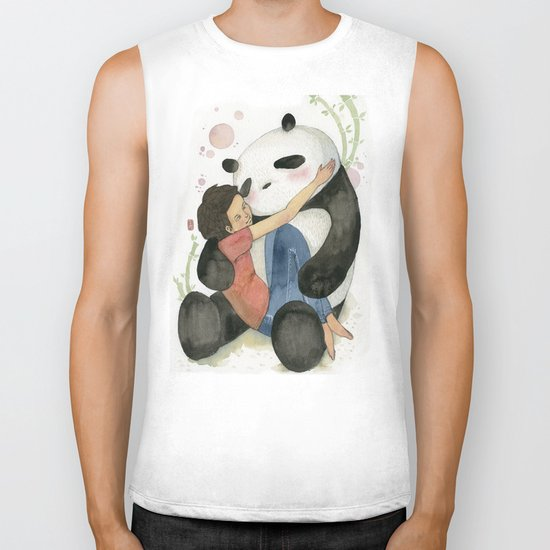 Cuddling with Panda Biker Tank