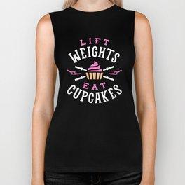 Lift Weights Eat Cupcakes Biker Tank