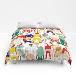 Fast Food Butts Mascots Comforters