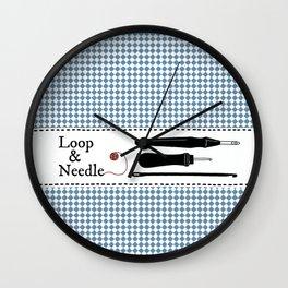 Loop & Needle * Wall Clock