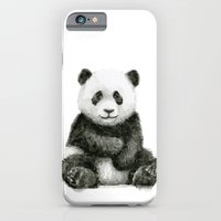 Panda Baby Watercolor Animal Art iPhone 6s Slim Case