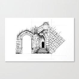 Ruin Study Canvas Print