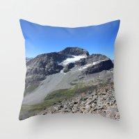 archan nair Throw Pillows featuring Piz Nair View by Helle Gade