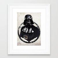 darth vader Framed Art Prints featuring Darth Vader by Yvan Quinet