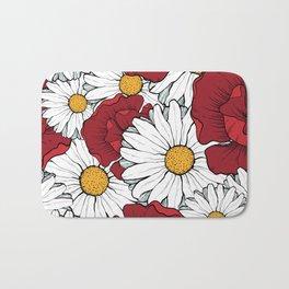 Beautiful flowers seamless pattern Bath Mat