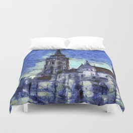 The Church Vincent Van Gogh Duvet Cover