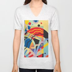 Graphic Abstraction 3 Unisex V-Neck