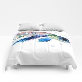 Sea Turtle Illustration Comforters