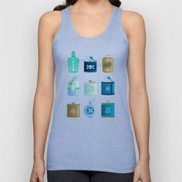 Flask Collection – Blue and Tan Palette Unisex Tank Top