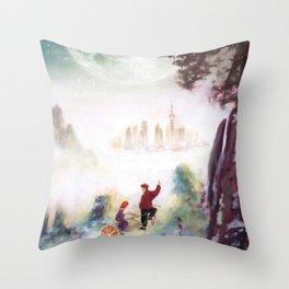 Canvas prints childrens bedrooms - Snowy mountains of Asia Throw Pillow