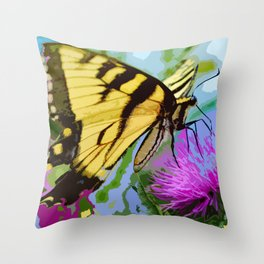 Yellow butterfly beauty 2 Throw Pillow