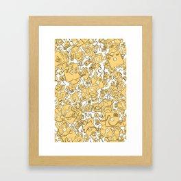 Technology! - Yellow Framed Art Print