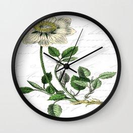 Botanical Flower Wall Clock