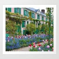 Monet's Home Art Print