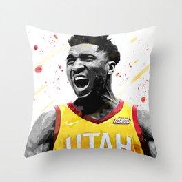 Donovan Mitchell Basketball Print Basketball Wall Art Basketball Poster Basketball Wall Decor Poster Throw Pillow