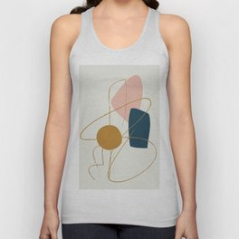 Minimal Abstract Shapes No.46 Unisex Tank Top