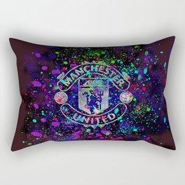 Watercolor Manchester United Rectangular Pillow