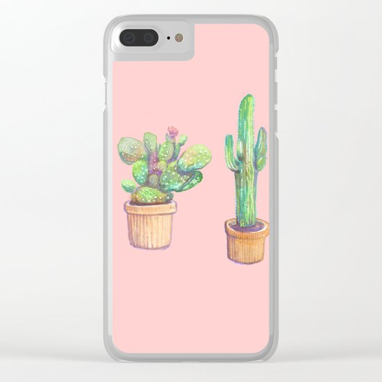 pinky 4 cactus Clear iPhone Case
