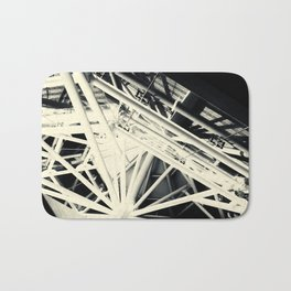 Spider Roof Struts Abstract Bath Mat