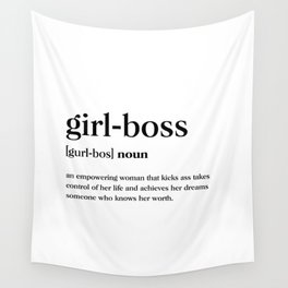 Girl boss Definition Wall Tapestry