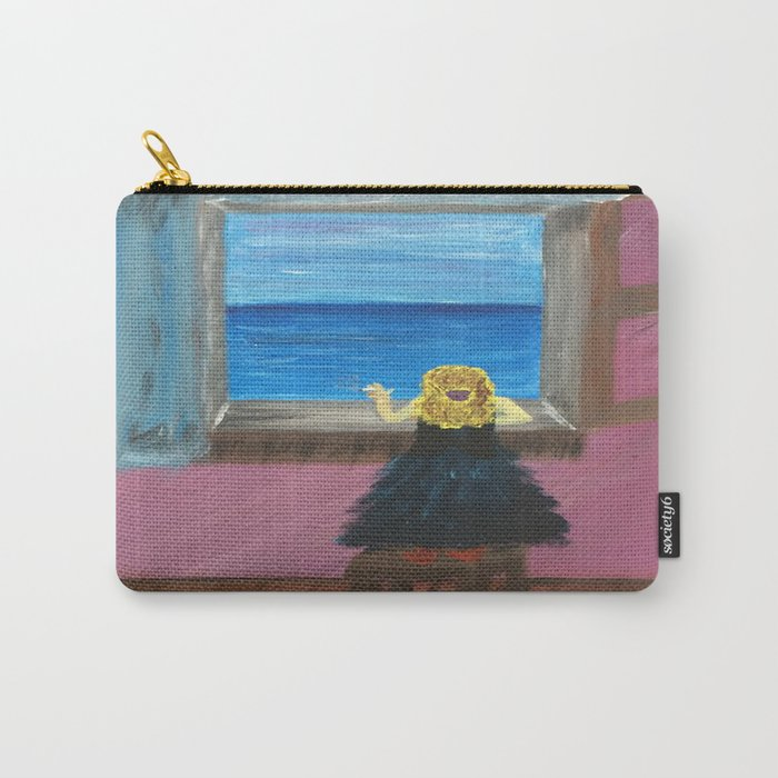 Woman at the Window at Figueres Carry-All Pouch