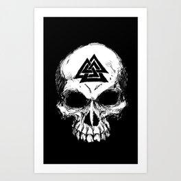 ValknutR Skull Art Print