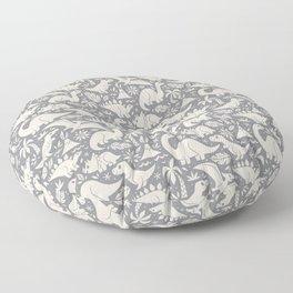 Delightful Dinos (gray) Floor Pillow