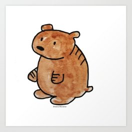 Pudgy Brown Bear Art Print