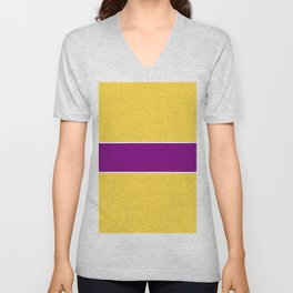 just two colors 11: orange and purple Unisex V-Neck
