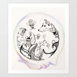 Circle of Objects And  Subjects; Round One Series Art Print