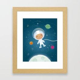 Little Astronaut Framed Art Print