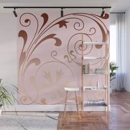 Rose Quartz Gold Komingo Wall Mural