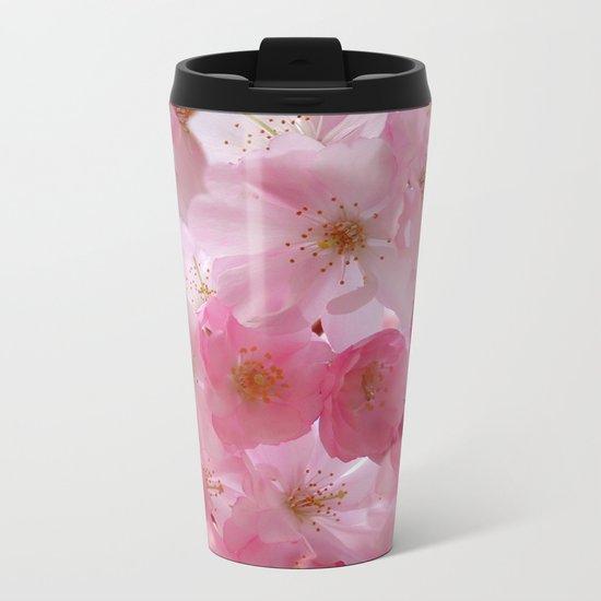 Delicate Cherry Blossoms Metal Travel Mug