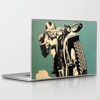 motorcycle Laptop & iPad Skins featuring Motorcycle Race by Fernando Vieira