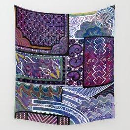 Purple Pandemonium Wall Tapestry