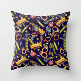Princess and the Pea. Throw Pillow