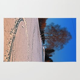 Hiking through winter wonderland III | landscape photography Rug