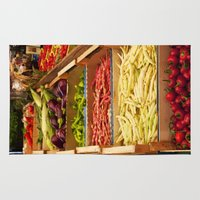 vegetables Area & Throw Rugs featuring Vegetables by Toni-Ann Langella