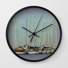 Flotilla of Yachts  Wall Clock