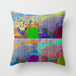 Gila Monsters All Over Throw Pillow