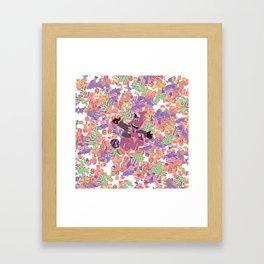 Bing bong - candy - white Framed Art Print
