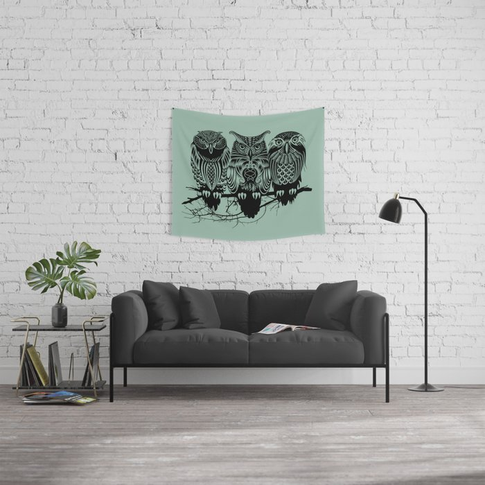 Owls of the Nile Wall Tapestry