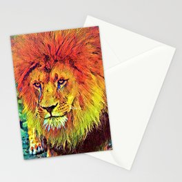 AnimalColor_Lion_007_by_JAMColors Stationery Cards