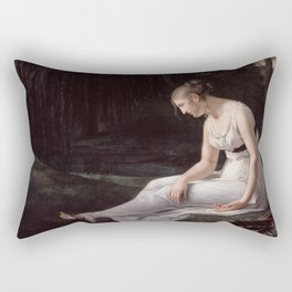 Melancholy, Constance-Marie Charpentier, 1801 Rectangular Pillow