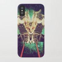 saga iPhone & iPod Cases featuring Galactic Cats Saga 1 by Carolina Nino