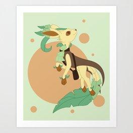 Leaf Steampunk Fox Art Print