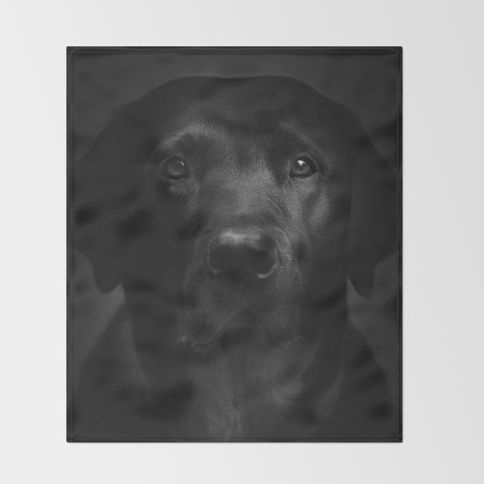 I met a girl (Black and white version) Throw Blanket